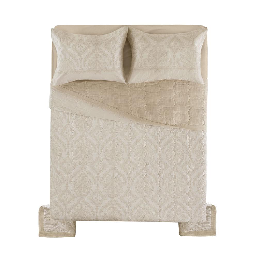 Cobre-Leito-Casal-Karsten-com-2-Porta-Travesseiros-180-Fios-Percal-Monise