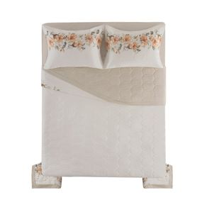 Cobre-Leito-Casal-Karsten-com-2-Porta-Travesseiros-180-Fios-Percal-Lidia