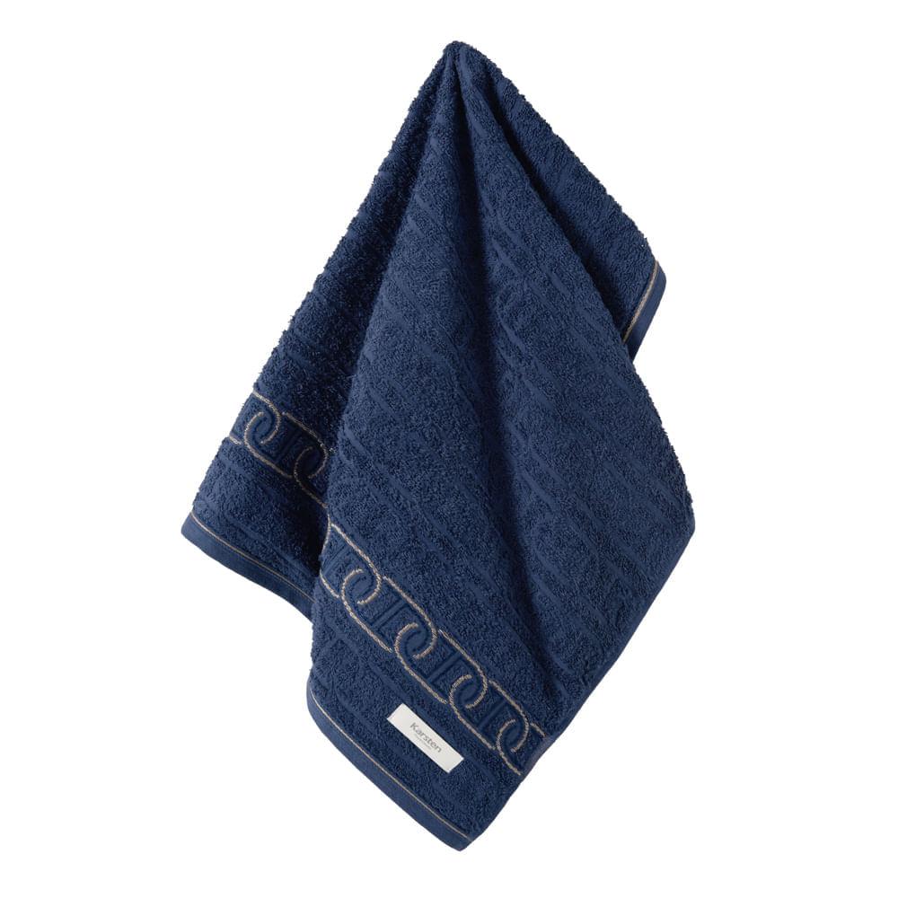 Toalha-de-Rosto-Karsten-Fio-Penteado-Malmo-Marinho--Azul