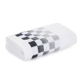 Toalha-de-Rosto-Karsten-Fio-Cardado-Mosaico-Branco-Preto