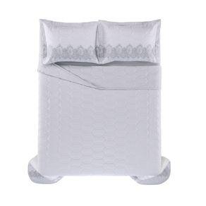 Cobre-Leito-Queen-Karsten-com-2-Porta-Travesseiros-300-Fios-Cetim-Carla