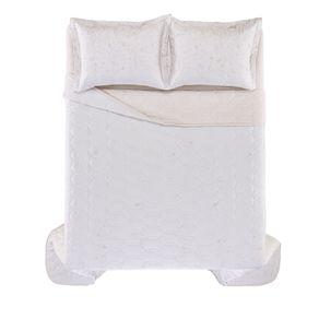 Cobre-Leito-Casal-Karsten-com-2-Porta-Travesseiros-300-Fios-Cetim-Cibele