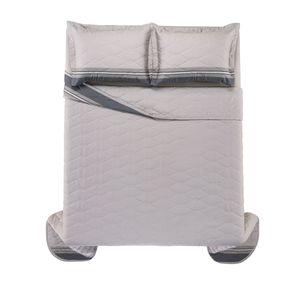 Cobre-Leito-Casal-Karsten-com-2-Porta-Travesseiros-300-Fios-Cetim-Adriel