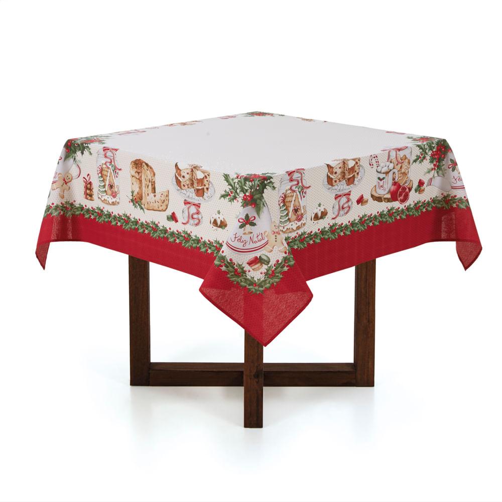 Toalha-de-mesa-de-Natal-Quadrada-Karsten-8-Lugares-Segredos-de-Receita