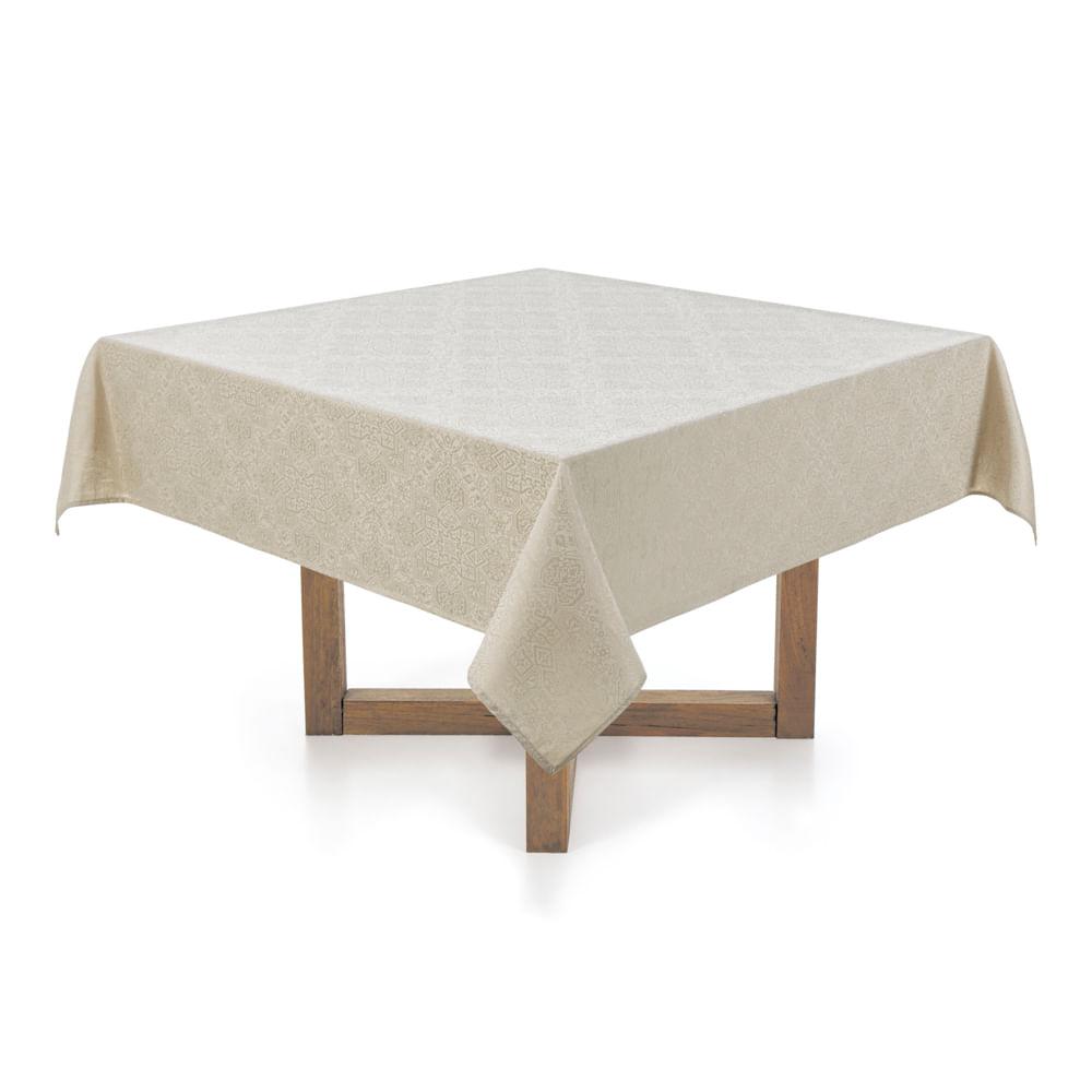 Toalha-de-mesa-Quadrada-Karsten-8-lugares-Sempre-Limpa-Jacquard-Vilares-Nos-Moscada