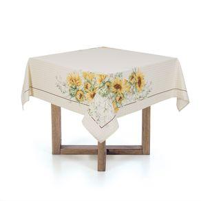 Toalha-de-mesa-Quadrada-Karsten-4-lugares-100--Algodao-Flor-do-Sol