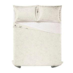 Cobre-Leito-Solteiro-Karsten-com-1-Porta-Travesseiros-180-Fios-Percal-Livia-Branco