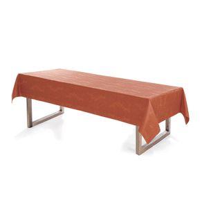 Toalha-de-mesa-Retangular-Karsten-10-lugares-Sempre-Limpa-Tropical-Terracota