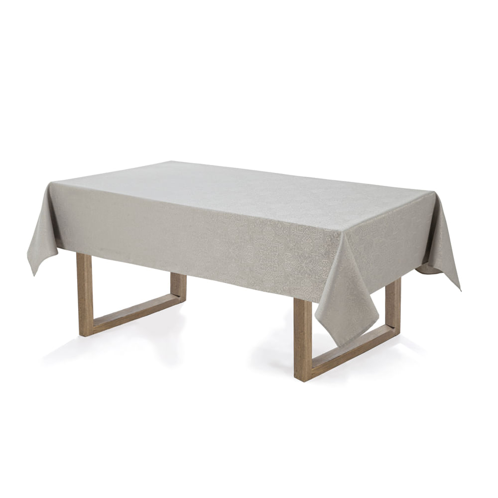Toalha-de-mesa-Retangular-Karsten-12-lugares-Sempre-Limpa-Jacquard-Vilares-Granizo