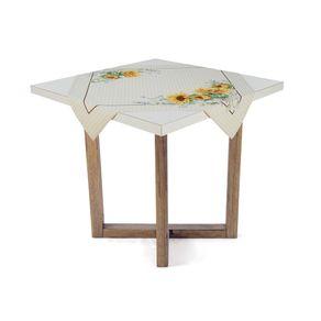 Toalha-de-mesa-Quadrada-de-Cha-Karsten-100--Algodao-Flor-do-Sol