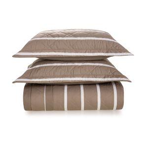Cobre-Leito-King-Karsten-com-2-Porta-Travesseiros-180-Fios-Percal-Tomaz-Taupe