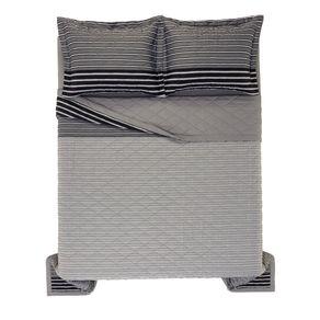 Cobre-Leito-Casal-Karsten-com-2-Porta-Travesseiros-270-Fios-Cetim-100--Algodao-Lucas