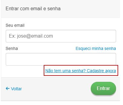 E-mail e Senha